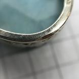 Подвес серебро с камнем на цепочке, фото №10