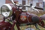 Декали на мотоцикл М1М, М-103, М-104 Минск (качественная копия) переводка малиновый фон, фото №4