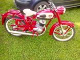 Декали на мотоцикл М1М, М-103, М-104 Минск (качественная копия) переводка малиновый фон, фото №7
