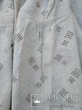 Сорочка білим по білому з вирізуванням,вишиванка конопляна полотняна Миргородська., фото №2
