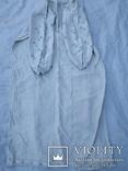 Сорочка білим по білому з вирізуванням,вишиванка конопляна полотняна Миргородська., фото №4
