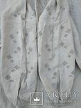 Сорочка білим по білому з вирізуванням,вишиванка конопляна полотняна Миргородська., фото №5