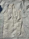 Сорочка білим по білому з вирізуванням,вишиванка конопляна полотняна Миргородська., фото №9