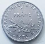 1 франк 1970 г. Франция, фото №3