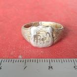 Перстень  серебряный 19 век