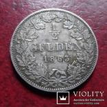 1/2 гульдена 1863  Бавария  серебро    (А.1.18)~, фото №2