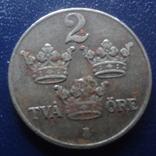 2  эре  1946  Швеция     (Г.12.24)~, фото №3