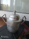 Сахарница, серебро 84 проба 269 грамм, фото №2
