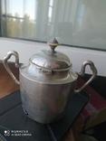Сахарница, серебро 84 проба 269 грамм, фото №3
