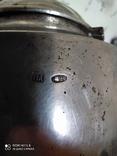 Сахарница, серебро 84 проба 269 грамм, фото №6