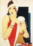 Открытки репринт винтаж ретро реклама женщины мода, фото №2
