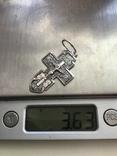 Крестик из серебра, фото №6