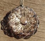 Крупный кулон, серебро, скань., фото №5
