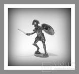 Игрушечные Солдатики Греческий Воин 5 Век до н.э. 54 мм Оловянные Cолдатики Миниатюры, фото №2
