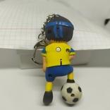 Брелок футболист. Глаза горят и кричит. Футбол, фото №5