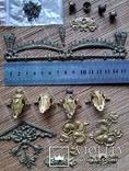 Накладки декоративні, латунь, фото №2