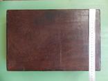 Старинная большая индийская кожаная Шкатулка. 40х26х9, фото №4