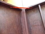 Старинная большая индийская кожаная Шкатулка. 40х26х9, фото №10