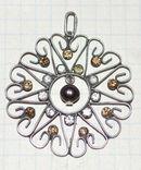 Кулон подвеска СССР серебро 875. жемчужина, фото №2