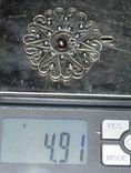 Кулон подвеска СССР серебро 875. жемчужина, фото №4