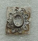 Фрагмент серебряного украшения -- узорчатая вставка под камень, фото №2