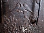 Старовинна 18-того століття чавунна пічна заслонка Демидівського металургійного заводу, фото №4