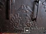 Старовинна 18-того століття чавунна пічна заслонка Демидівського металургійного заводу, фото №5