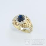Золотое кольцо с цветочным орнаментом, фото №2