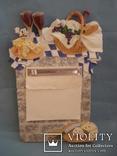 Плакетка кухонная настенная подарочная, записная книжка. Барельеф., фото №2