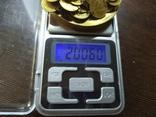 Медаль на юбилей 50 лет. Цепочка сделана из монет 1 коп СССР, фото №8