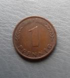 1 пфенніг 1949 року F Німеччина, фото №2