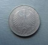 2 марки 1969 Німеччина Макс Планк, фото №3