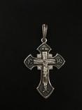 Крестик нательный серебряный, фото №3