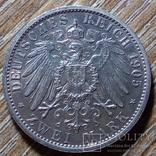 Шварцбург - Зондерхаузен 2 марки 1905 г., фото №3