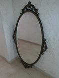 Старое большое зеркало. 131×80 см., фото №3