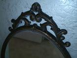 Старое большое зеркало. 131×80 см., фото №4