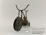 """Вінтажна гасова лампа """"Велосипед"""" арт. 0957, фото №3"""