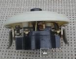 Винтажный выключатель в кладовку, на лестницу с  пневмозадержкой отключения. 250V, 2.5A., фото №4