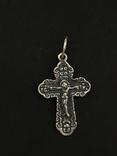 Крестик нательный серебряный, фото №2