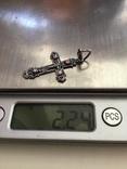 Крестик нательный серебряный, фото №7