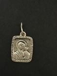 Иконка нательная серебряная, фото №2