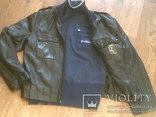 Куртка кожаная патрульная + свитер, фото №8