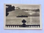 Почтовая открытка. Фото Н.Бондаренко Крым. Утро на рейде. Киев. Укрфото. 30.06.1955 года, фото №2