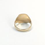 Масонское золотое (10к) кольцо с эмалями, фото №5