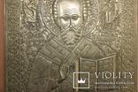 Большая медно-литая икона Святой Николай, фото №13