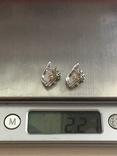 Сережки серебряные, фото №8