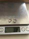 Сережки серебряные, фото №7