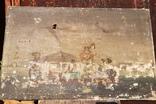 Стара картина підрамник на кілках 75х120см, фото №3