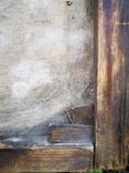 Стара картина підрамник на кілках 75х120см, фото №7