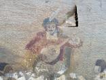 Стара картина підрамник на кілках 75х120см, фото №9
